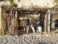 Lounging at the hut