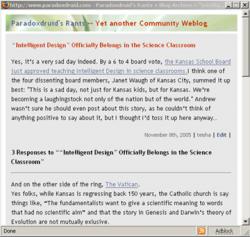 screenshot of Springer entry page